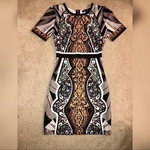 Scuba midi club dress size medium